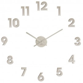DIY Silver Numbers Wall Clock