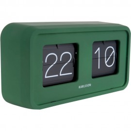 Bold Green Flip Table Clock 26.5cm