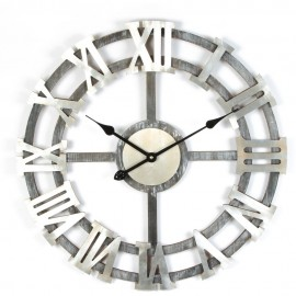 Round Wooden Wall Clock Track Style 63.5cm