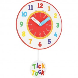 Tell The Time Wall Clock With Pendulum 40cm