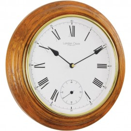Traditional Oak Wall Clock 32cm