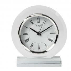 Round Glass Mantel Clock 17cm