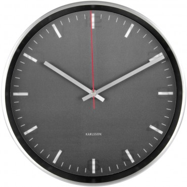 Hologram Black Wall Clock 30cm
