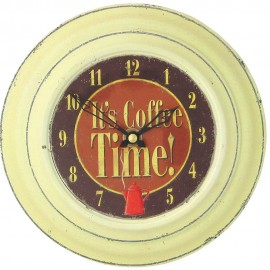 Coffee Time Wall Clock 18.5cm