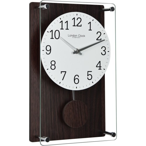Dark Wood Pendulum Clock 35cm