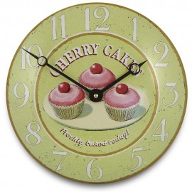 Cherry Cakes Convex Wall Clock 26.5cm