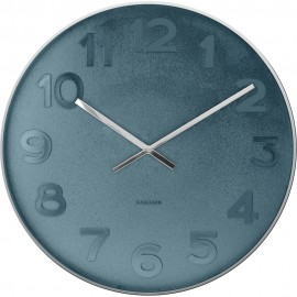 Mr Blue Numbers Wall Clock 37.5cm or 51cm