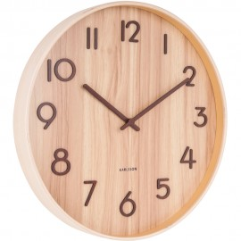 Pure Large Light Basswood Wall Clock 60cm