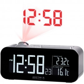 Colton Dual Alarm Projection Clock 16cm