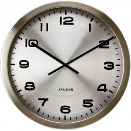 Maxie Steel Wall Clock 50cm