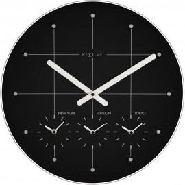 Big City Time Zone Wall Clock 43cm