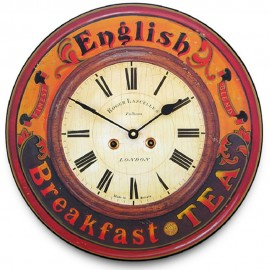 English Breakfast Tea Wall Clock 36cm