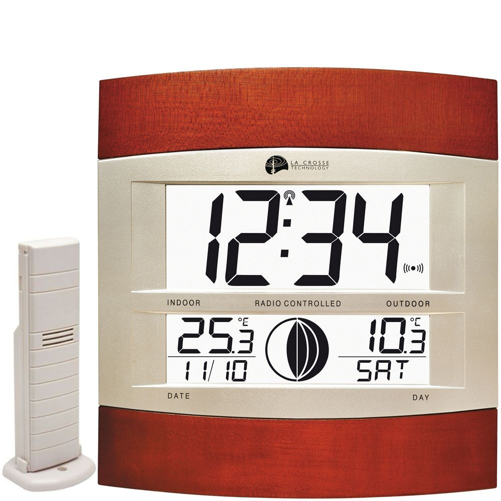 La Crosse Radio Controlled Moonphase Wall Clock 23cm