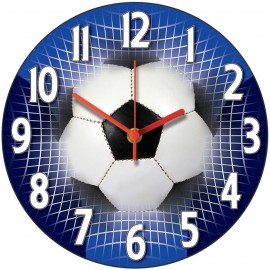 Blue Football Wall Clock 28.5cm