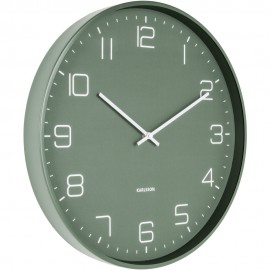 Lofty Iron Matt Green Wall Clock 40cm