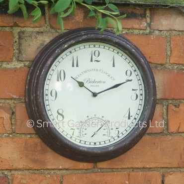 Bickerton Outdoor Wall Clock with Thermometer 30cm