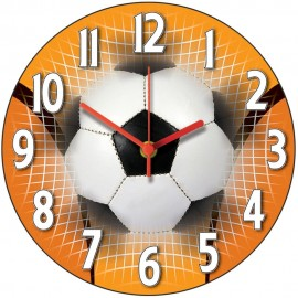 Orange Football Wall Clock 28.5cm
