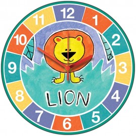 Perkins & Morely Jungle Friends Lion Wall Clock 28.5cm