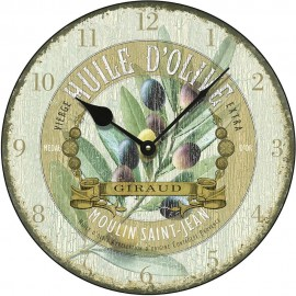 Huile D'Olive Antique Wall Clock 36cm