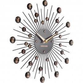 Sunburst Black Wall Clock 30cm