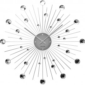 Sunburst Crystal Wall Clock 50cm