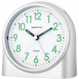 Sweeper One Silver Alarm Clock 10.5cm