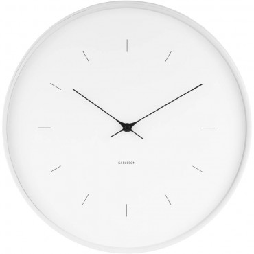 Butterfly White Wall Clock 37.5cm