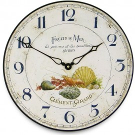Fruits De Mer Wall Clock 36cm