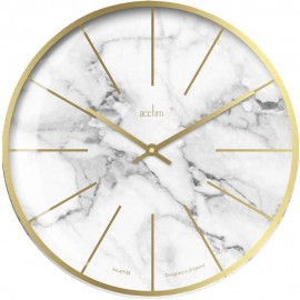 Luxe XL Marble Wall Clock 40cm