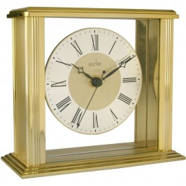 Hamilton Gold Mantel Clock 14cm
