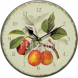 Green Pershore Plums Wall Clock 28.5cm