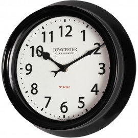 Shelton Black Outdoor Wall Clock 21.5cm