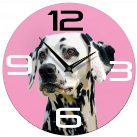 Pink Dalmation Wall Clock 28.5cm