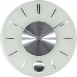 Stripe Round Wall Clock With Pendulum 40cm