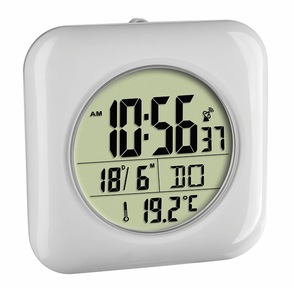 Radio Controlled Bathroom Wall Clock 17cm