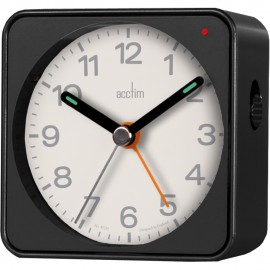 Adina Metallic Black Alarm Clock 7.5cm