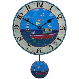 Henry's Boat Wall Clock With Pendulum 28.5cm