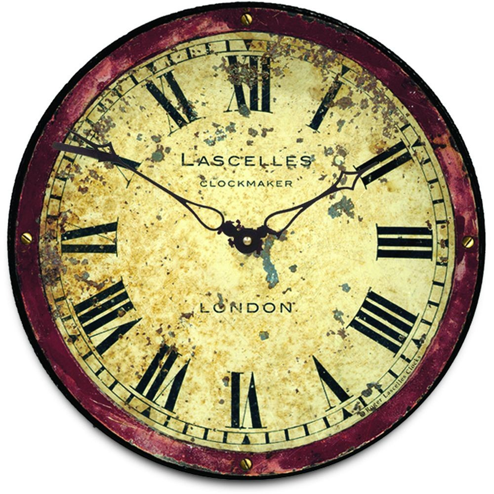 Rusty London Wall Clock 36cm