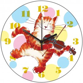 Cat And Fiddle Wall Clock 28.5cm