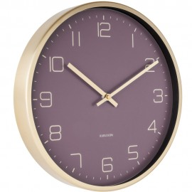 Elegance Purple Wall Clock 30cm