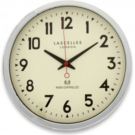 Chrome Radio Controlled Wall Clock 38cm