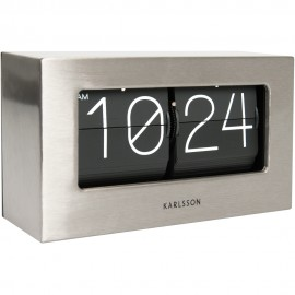 Boxed Flip Table Clock 21cm