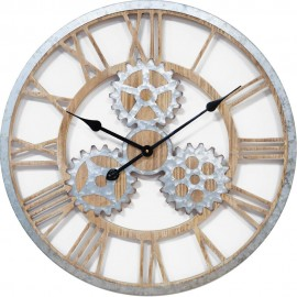 MDF Wall Clock Cut Out Cogs 62.5cm