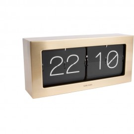 Flip Box Gold Table Clock 37cm