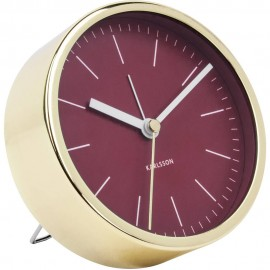 Minimal Red Alarm Clock 10cm
