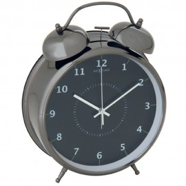 Wake Up Black Alarm Clock 12cm, 21.5cm or 30cm