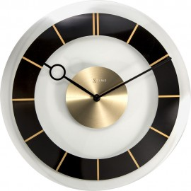 Retro Black Wall Clock 31cm