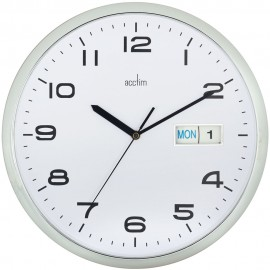Supervisor Day & Date White Wall Clock 32cm