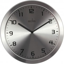 Dalston Ultra-Slim Chrome Wall Clock 28cm