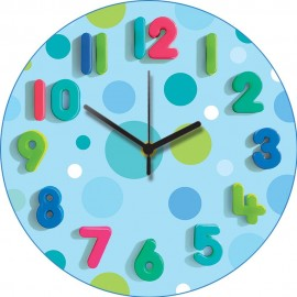Blue Spots Wall Clock 30.5cm